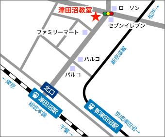 津田沼教室地図