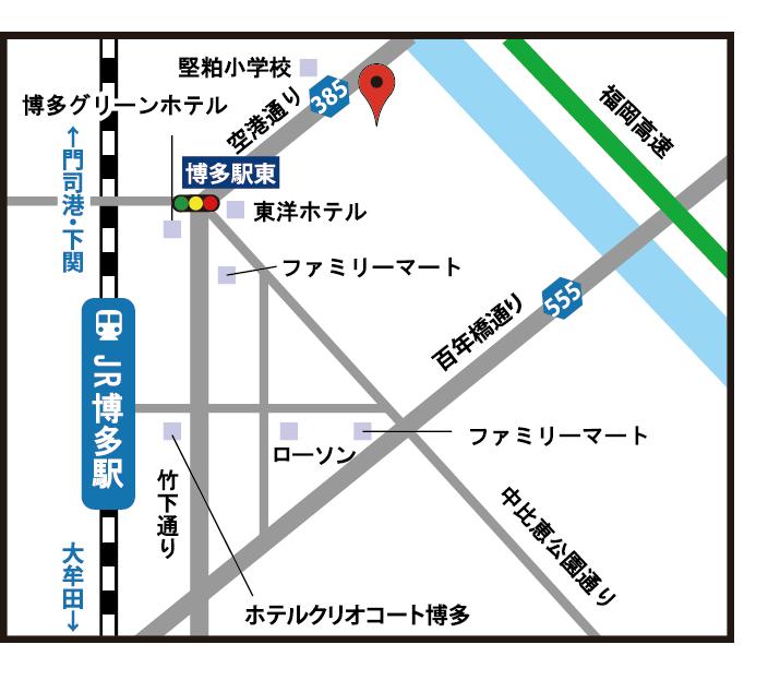 福岡教室地図